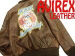 【中古】美品●アヴィレックス●上質羊革ラムレザーA-2フライトジャケット
