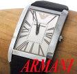【中古】▼アルマーニ ARMANI レザーベルト スクエア 腕時計