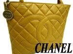 【中古】正規品◆シャネルCHANELキャビアスキンレザートートバッグ