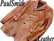 【中古】良品●PaulSmith ポールスミス 羊革ラムレザージャケット 大きいサイズ/XL 正規品