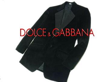 【中古】◇美品◇ドルチェ&ガッバーナ◇ベロア タキシードジャケット メンズアウター DOLCE&GABBANA イタリア製 テーラード