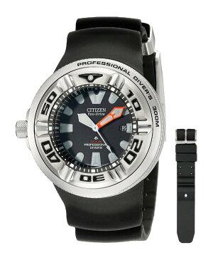 【新入荷】期間限定 CITIZEN[シチズン] MODEL NO.BJ8050-08E Men's ECO-DRIVE WR300 Professional Diver Black Rubber Strap エコドライブ 海外モデル 腕時計 プレゼントにも最適!