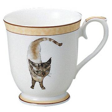 【NARUMI(ナルミ)】 いわさきちひろマグカップ(碧い目の黒猫)  ブランド通販 マグ  はなまる    【創業明治元年の安心感】