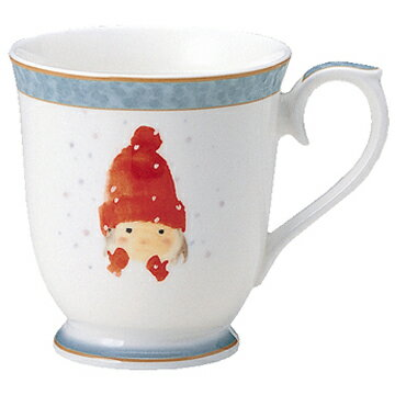 【NARUMI(ナルミ)】 マグカップマグカップ(赤い毛糸帽の女の子) ブランド通販 マグ  【創業明治元年の安心感】