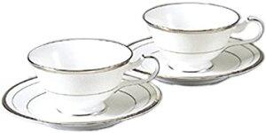 Noritake(ノリタケ) ボーンチャイナ シャンパンパールズ ティー・コーヒー碗皿ペアセット