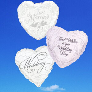 【送料無料】祝電・バルーン電報!結婚式に最適、シルバーとホワイトの3連ハート。バルーンギフト