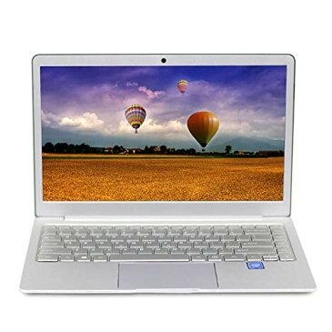 【Microsfot Office 2010 Windows 10標準搭載 】 14.1インチ狭額縁 J3455静音CPU 8GB RAM/64GB ROM 薄型高性能ノートパソコン6時間長時間駆動 無線LAN内蔵 ノートPC 無線マウス付き (HDD容量(64G) シルバー)