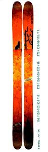 旧モデルセール品残り1点【2015モデル14/15】【4FRNT GAUCHO 186cm】ガウチョ(ファットスキー...