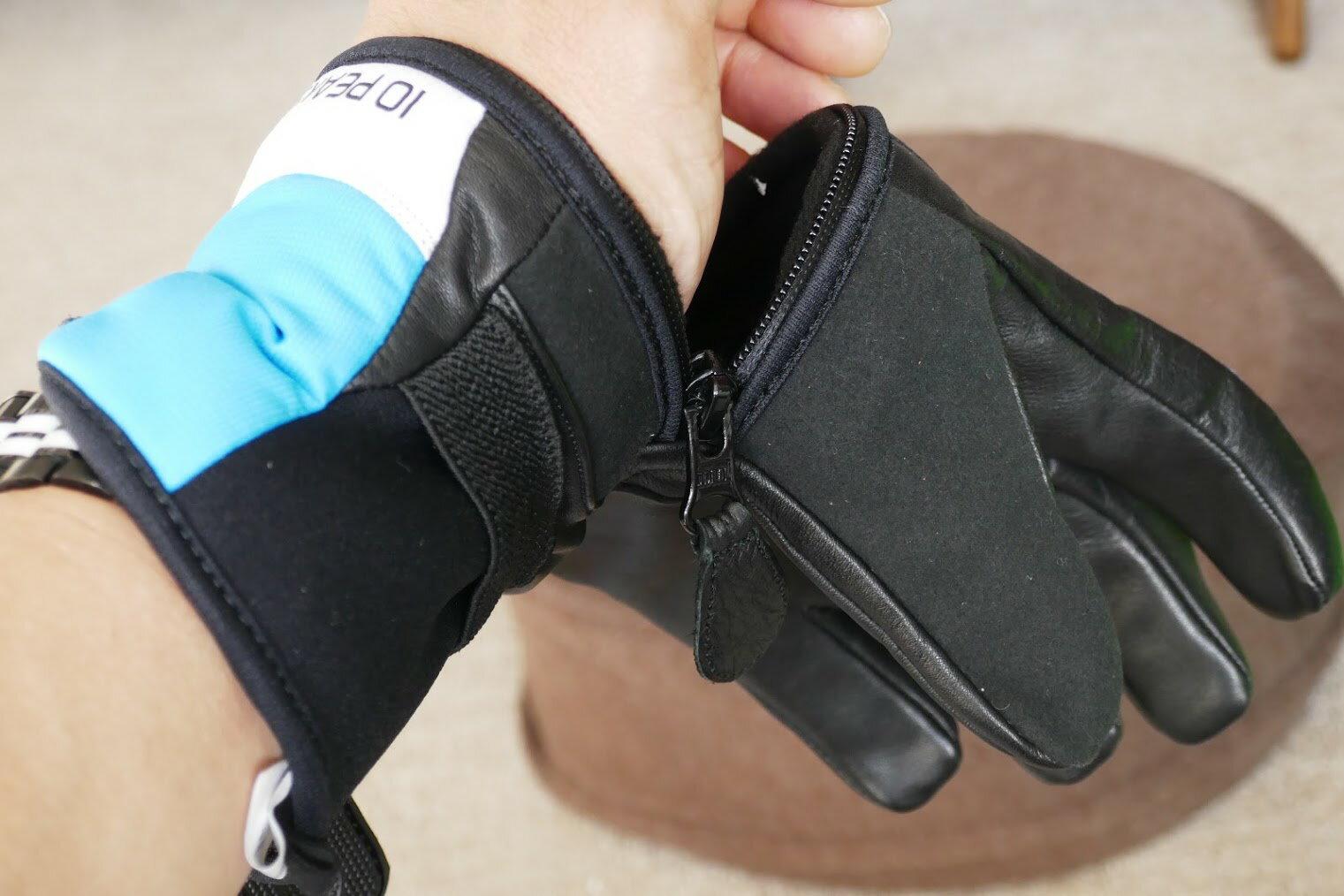 10Peaks 10ピークス Mount Allen マウントアレン ブルー 簡単に指が出せる5フィンガーレザーグローブ