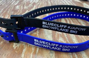VOILEボレーストラップブルークリフスノーフレークスキー#JAPOWオリジナルナイロンストラップブラックORブルー1本25インチ63cmメール便送料270円