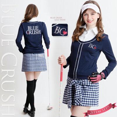 【2014 Collection 】  ピコレース付きポロ+前結びスカート(上下セット)・・・レディースゴ...