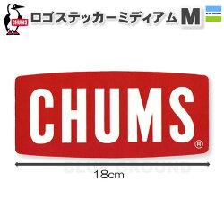 チャムス/ロゴステッカーミディアム