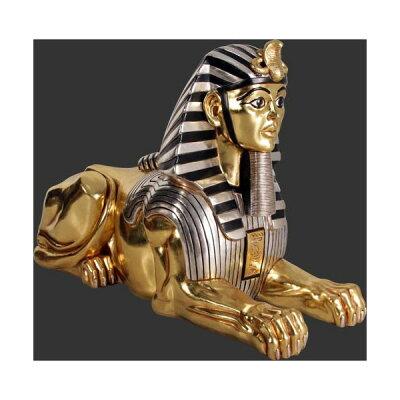 黄金の「古代エジプト・スフィンクス」守り神。インパクト抜群! お店の店頭に置けばインパクト...