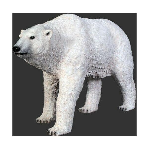 代引不可-アニマルビッグフィギュアシリーズ【白クマ(熊)・スタンディング】(等身大フィギュア):ダーマカラーのブルーヘブン