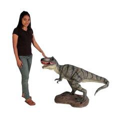 高さ77.5cmの小型版T-rexフィギュア!小型版10分の1!ティラノサウルス T-REX 小型フィギュア(...