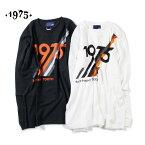 【セール】【30%OFF】1975 TOKYO Surf Project LS Tee メンズ/レディース ブラック/ホワイト M-XL