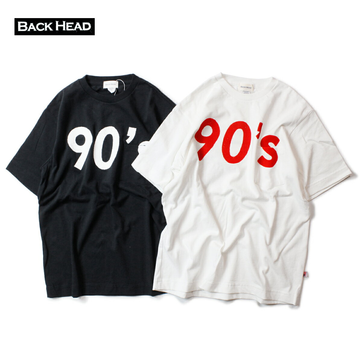 トップス, Tシャツ・カットソー BACK HEAD 90s STAMP POCKET TEE M-LT T USA