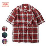 BIGMIKE,ビッグマイク,チェックオープンカラーシャツ,メンズ