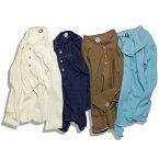feel so easy/Organic Cotton Ecology Standard ヘンリーネック メンズ ホワイト/ネイビー/ブラウン/ブルー M-L