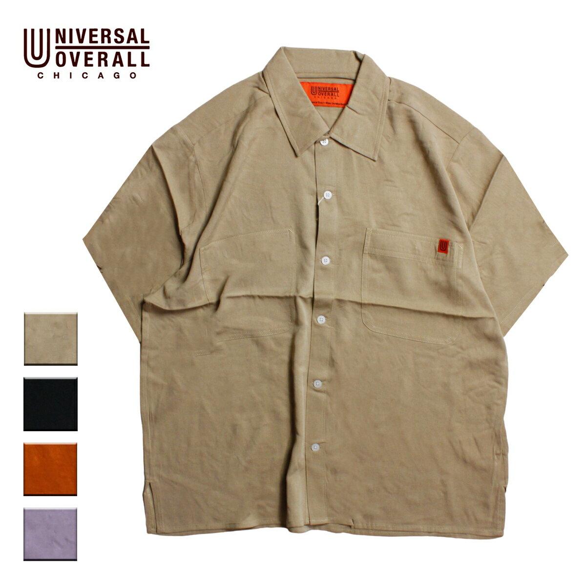 トップス, カジュアルシャツ UNIVERSAL OVERALL OPEN COLLAR SHIRT S-L U2023168