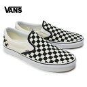 VANS バンズ Classic Slip On Black and White Checker/White 靴 スニーカー スリッポン 正