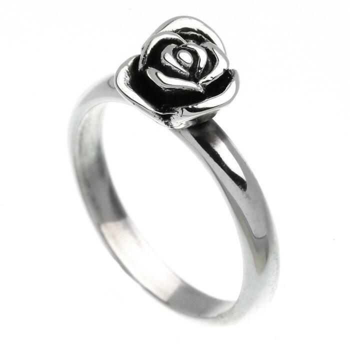 シルバー925 リング 指輪 ローズ 薔薇 バラ 花 フラワー ゴシック 人気 シルバーリング パーティー レディース アクセサリー 女性 大人 彼女 誕生日 プレゼント