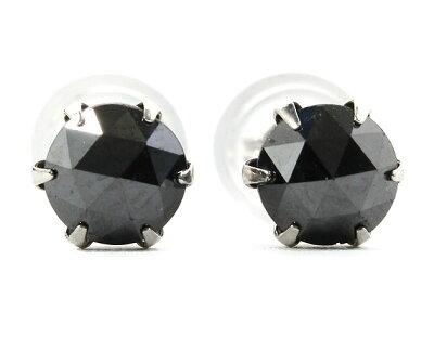 ジュエリー JEWELRY 一粒 【0.5ct】 ブラックダイヤモンド ピアス プラチナ DAPE13PKNC 【レディース】
