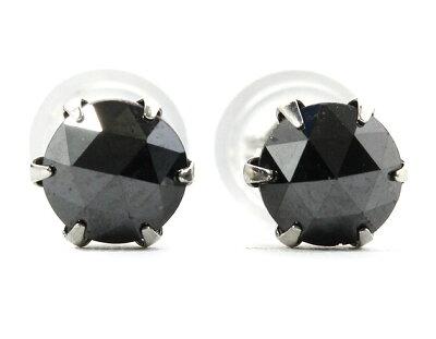 ジュエリー JEWELRY 一粒 【1.0ct】 ブラックダイヤモンド ピアス プラチナ DAPE14PKNC 【レディース】