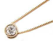 ジュエリー JEWELRY 一粒 【0.15ct】 ダイヤモンド ネックレス 18Kピンクゴールド DFRP015PGB 【レディース】