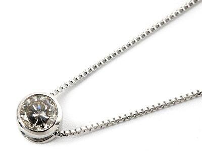ジュエリー JEWELRY 一粒 【0.15ct】 ダイヤモンド ネックレス 18Kホワイトゴールド DFRP015WGB 【レディース】