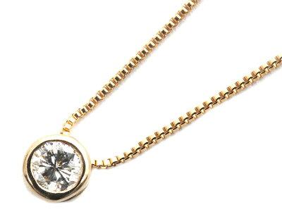 ジュエリー JEWELRY 一粒 【0.1ct】 ダイヤモンド ネックレス 18Kピンクゴールド DFRP01PGB 【レディース】