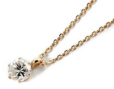 ジュエリー JEWELRY 一粒 【0.2ct】 ダイヤモンド ネックレス 18Kピンクゴールド DS20096PG 【レディース】
