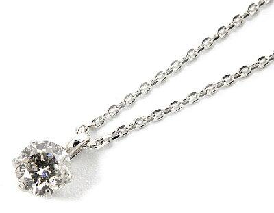 ジュエリー JEWELRY 一粒 【0.2ct】 ダイヤモンド ネックレス 18Kホワイトゴールド DS20096WG 【レディース】
