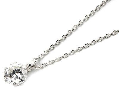 ジュエリー JEWELRY 一粒 【0.3ct】 ダイヤモンド ネックレス 18Kホワイトゴールド DS20153WG 【レディース】