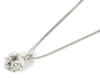 【鑑定書付き】ジュエリー JEWELRY 一粒 【0.3ct】 ダイヤモンド ネックレス プラチナ DTMTFB03DI 【レディース】