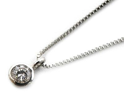 ジュエリー JEWELRY 一粒 【0.05ct】 ダイヤモンド ネックレス プラチナ DTP05098P 【レディース】