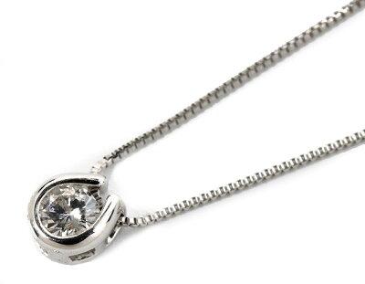 ジュエリー JEWELRY 一粒 【0.1ct】 ダイヤモンド ネックレス 18Kホワイトゴールド DTP5375WG 【レディース】