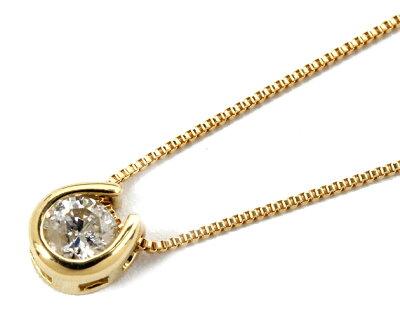 ジュエリー JEWELRY 一粒 【0.1ct】 ダイヤモンド ネックレス 18Kイエローゴールド DTP5375YGB 【レディース】