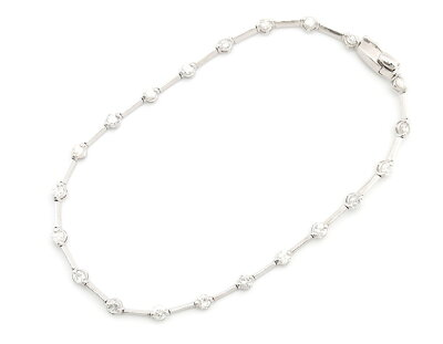 ジュエリー JEWELRY 【1.0ct】 ダイヤモンド ブレスレット K18ホワイトゴールド DTW277 【レディース】