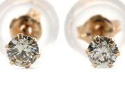 ジュエリー JEWELRY 一粒 【0.1ct】 ダイヤモンド ピアス 18Kピンクゴールド DVTFN10PGD 【レディース】