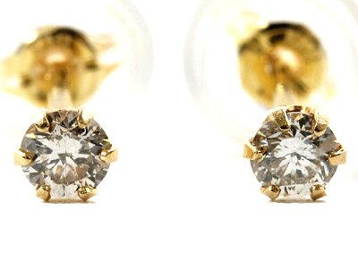 ジュエリー JEWELRY 一粒 【0.1ct】 ダイヤモンド ピアス 18Kイエローゴールド DVTFN10YGD 【レディース】
