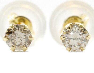ジュエリー JEWELRY 一粒 【0.2ct】 ダイヤモンド ピアス 18Kイエローゴールド DVTFN20YGD 【レディース】