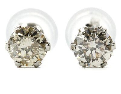 ジュエリー JEWELRY 一粒 【0.5ct】 ダイヤモンド ピアス プラチナ DVTFN50DKJ 【レディース】