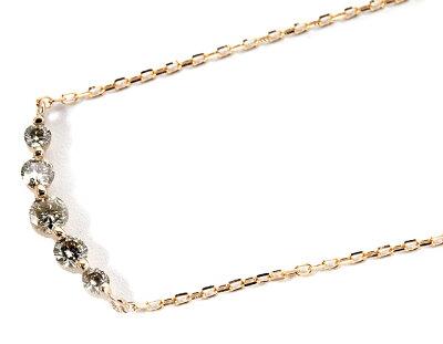 ジュエリー JEWELRY 五粒 【0.3ct】 ダイヤモンド ネックレス 18Kピンクゴールド FPN189901P 【レディース】