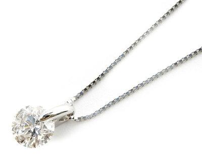 【鑑定書付き】ジュエリー JEWELRY 一粒 【1.0ct】 ダイヤモンド ネックレス プラチナ GSDEOSKG10 【レディース】