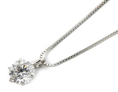 【鑑定書付き】ジュエリー JEWELRY 一粒 【0.3ct】 ダイヤモンド ネックレス プラチナ SDEDPT03DX 【レディース】
