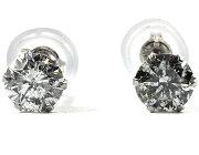 【鑑定書付き】ジュエリー JEWELRY 一粒 【0.6ct】 ダイヤモンド ピアス プラチナ SDEPSI06K 【レディース】