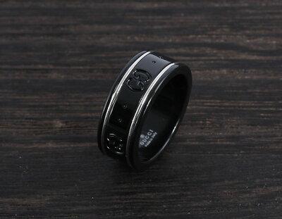 グッチ リング【指輪】 アクセサリー ボーイズ GGアイコン ブラック 225985 I19A1 8061 GUCCI