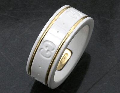 グッチ GUCCI リング【指輪】 GGアイコン ホワイト&イエローゴールド 325964 J85V5 8062 レディース