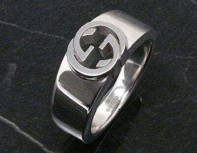 グッチ リング【指輪】 アクセサリー ボーイズ インターロッキングG シルバー 374666 J8400 0702 GUCCI